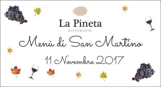 Cena di San Martino Menù speciale e vino nuovo